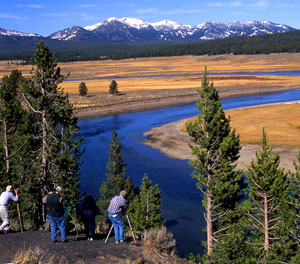 Hayden Valley photography class from Yellowstone Association; Jo Suderman photographer NPS.gov Photo, October 2000