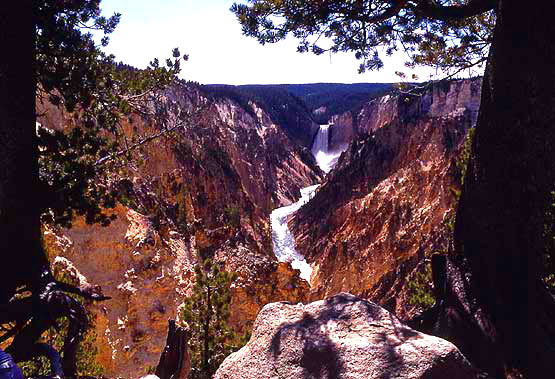 Artist Point view in the Grand Canyon of the Yellowstone photo by NPS.gov