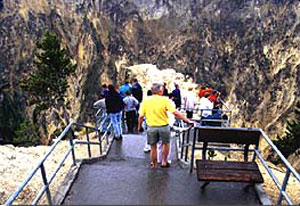 Inspiration Point Platform, Grand Canyon of the Yellowstone, photo NPS.gov