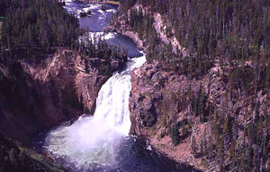 View of Upper Falls from across the Canyon, photo by NPS.gov.