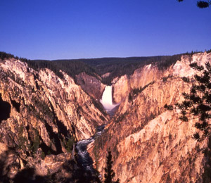 The Grand Canyon of the Yellowstone, Lower Falls from Artist Point, John Barnett 1969